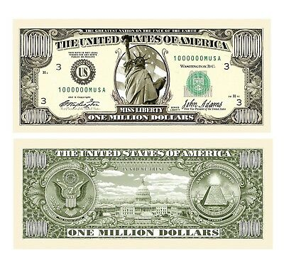 American Art Classics Traditional Million Dollar Bill with Free Currency Mone...