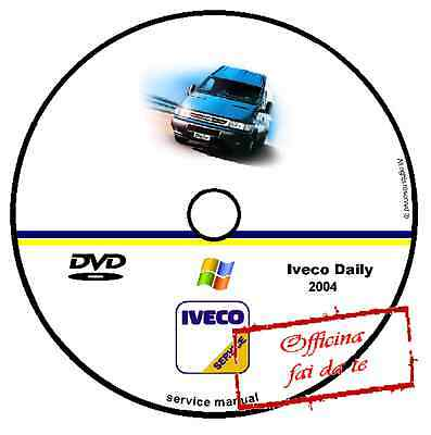 Cd Dvd Manuale Officina Fiat Iveco Daily 2004 Workshop Manual Service