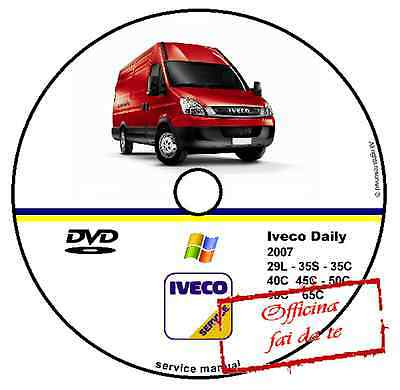 Cd Dvd Manuale Officina Fiat Iveco Daily 2007 Workshop Manual Service