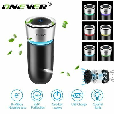 ONEVER Auto Car Home Fresh Air Ionic Purifier Oxygen Bar Ozone Ionizer Cleaner