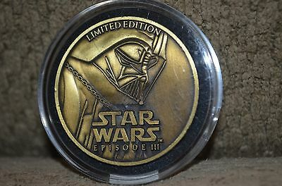 STAR WARS Episode III challenge coin medallion limited edition Darth Vader