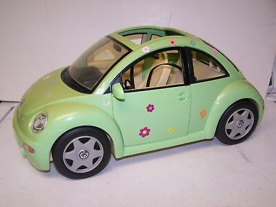 Barbie Vw Volkswagen Beetle Love Bug Lime Green Doll Car 2000 Mattel W Key