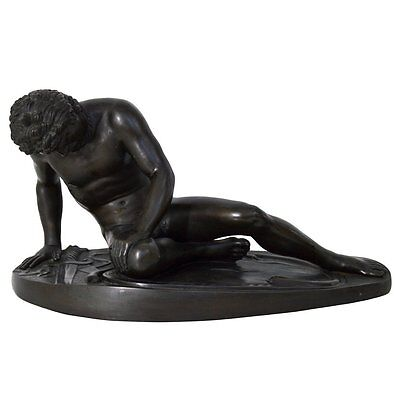 """Bronze Statue """"The Dying Gaul,"""" Signed M Amadoi N 'Napoli' 19th Century"""