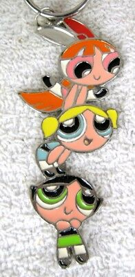POWERPUFF GIRLS Keychain BUBBLES, BLOSSOM and BUTTERCUP