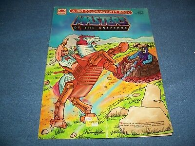 Vintage 1985 Masters Of The Universe MOTU Coloring & Activity Book Golden Book