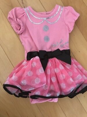 Disney Baby Baby Girl Minnie Mouse Outfit One Piece Dress Size 3-6 Months