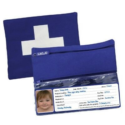 Allergy - Asthma - Medication Bag First Aid bag - insulated BLUE