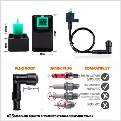 DC12V High Performance Ignition Coil+CDI Unit For Motorcycle Dirt Bike 50-150cc