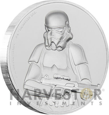 2018 Star Wars Stormtrooper - Ultra High Relief - 2 Oz. Silver Coin - Niue Ogp