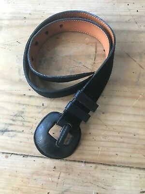 Country Road Vintage Black Genuine Suede Leather Small Belt Made In America
