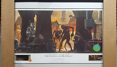 Star Wars Willitts Ralph Mcquarrie Signed Lithograph Cantina On Mos Eisley 70Mm