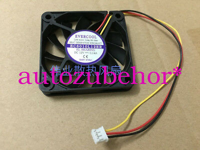 for EVERCOOL EC6010L12ER cooling fan DC12V 0.14A 60*60*10MM 3wire