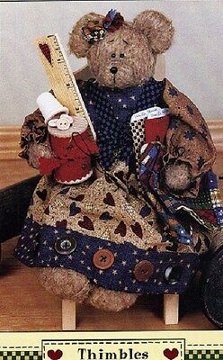 Crafts - Bears - Thimbles the Bear - Pattern