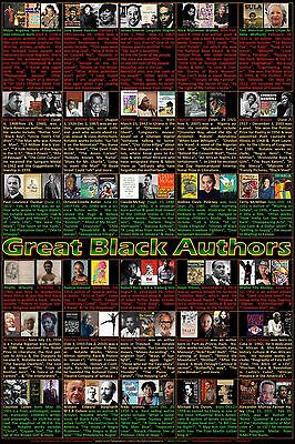 Black History Month Poster, Great Black Authors Poster