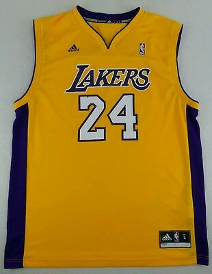 9a7b9c6d81d Vintage Adidas Los Angeles Lakers Kobe Bryant Basketball Jersey Size Adult L
