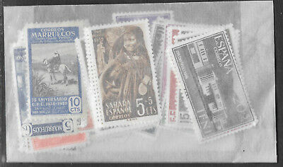 SPANISH COLONIES STAMP COLLECTION PACKET 50 DIFFERENT Mostly Mint NICE SELECTION