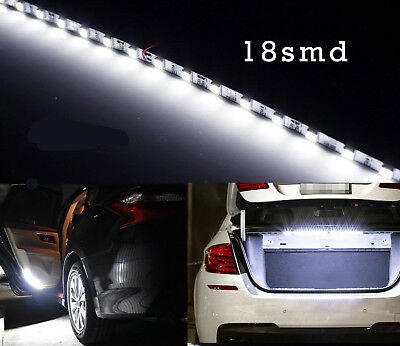 1Pcs HID White 6000K 18 SMD LED Strip Light Car Trunk Cargo Area Illumination