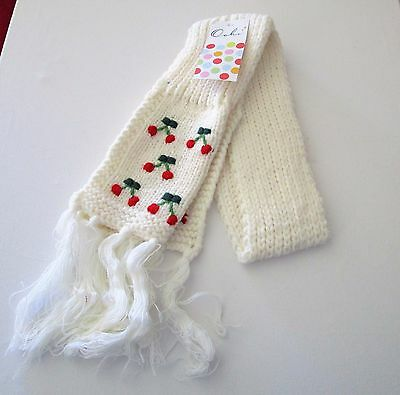 Girl's CHERRY SCARF CREAM by Oobi