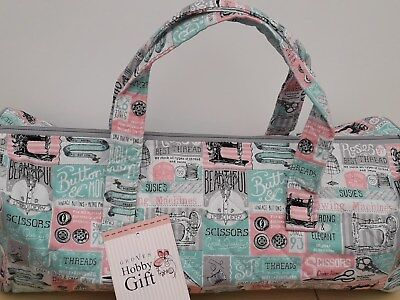 BNWT- Hobby Gift-Knitting/Crochet/Project-Hold All Style Bag-Patchwork Notions.