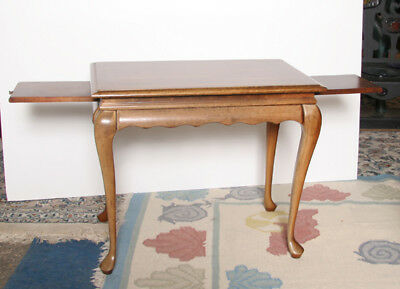 Pickled Wood Sofa Table, Queen Anne Style Pickled Wood Sofa Table