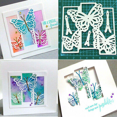 Butterfly Background Metal Cutting Dies Stencil Scrapbook Embossing Paper Craft