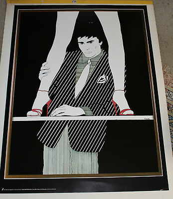 80s Classic Art Poster FOUR LEG GENT Retro John Faber Netherlands Large Pinup
