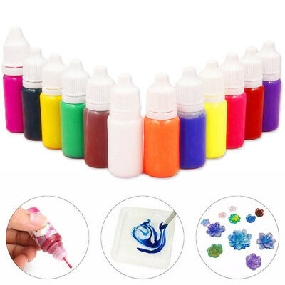 13 COLOR PEARLY-LUSTRE Pigment Epoxy Resin Coloring Dye Colorant DIY ...