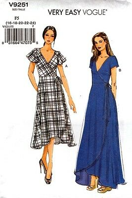 Vogue Sewing Pattern V9251 9251 Misses Dress Very Easy Vogue NEW size 16-24