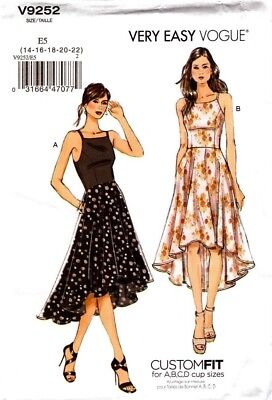 Vogue Sewing Pattern V9252 9252 Misses Dress Very Easy Vogue size 14-22 NEW
