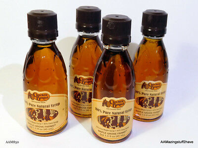 4 New And Unopened 1.5 Oz. Bottles Of Cracker Barrel Maple Syrup  Free S&h