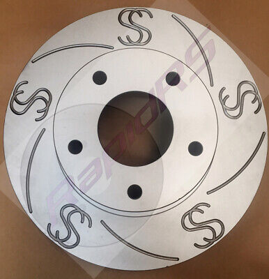 Commodore Vt Vu Vy Vx Vz Ss Slotted Disc Brake Rotors Full Set With Brake Pads