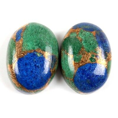 Beautiful AZURITE Copper Mohave 14x10 mm Oval Cabochon Gemstone 14 Cts s-25992