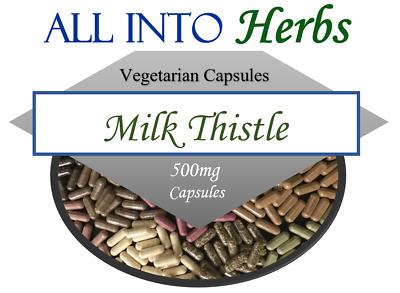 Milk Thistle Certified Organic Vegetarian Capsules QTY 20 - 1000