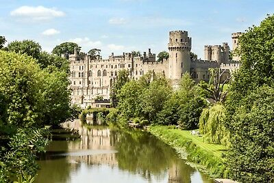 "Large 20""x30"" Medievil Warwick Castle River Avon Canvas Pictures Wall Prints"
