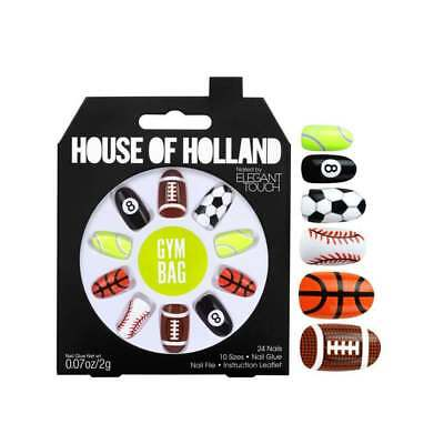 House Of Holland Elegant Touch False Nails GYM BAG - New Balls Please NEW