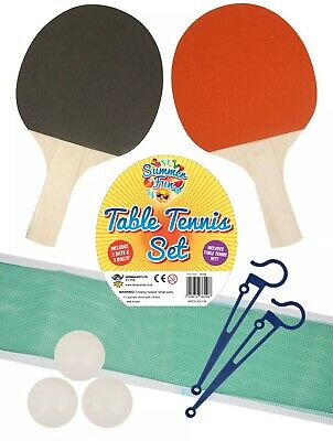 2 Player Table Tennis Ping Pong Set Includes 3 Balls Two Paddle Bats Game New Uk