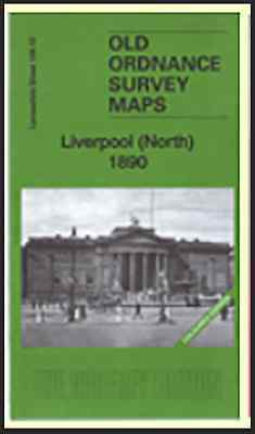 Old Ordnance Survey Map Liverpool (North 1890) Coloured Edition