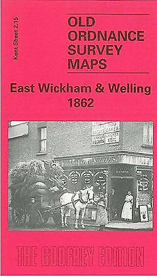 Old Ordnance Survey Map East Wickham & Welling 1862