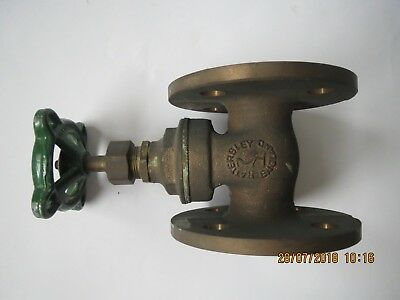 Hattersley Fig 35E Solid Cast Brass/Bronze Flanged Gate Valve 27mm Bore