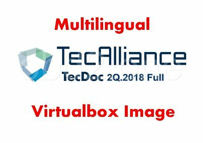 TecDoc 2018Q2 Full Multilingual Preinstalled Virtualbox Image, Instant Access !!