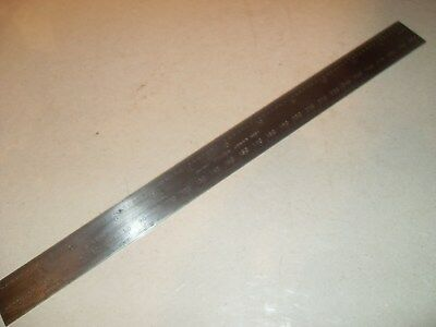 """Rare Moore & Wright No.422 ME 12"""" / 300mm Rule - 64ths 32nds MM 1/2MM - As Photo"""