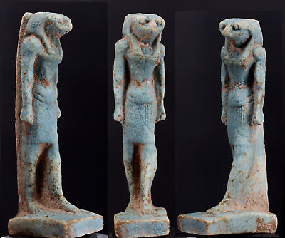 Egyptian faience amulet of  Horus 6,8cm.