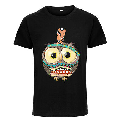Boy's/Girl's T-shirts Funny Owl Printed Short Sleeve Casual Summer Cool Tops Tee