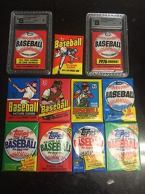 Unopened Baseball Card Packs 1974-1984