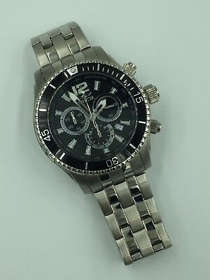 Invicta Specialty Model 0621 Stainless Steel 45 mm Black Dial Swiss Made Watch
