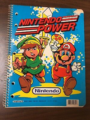 Vintage 1988 Nintendo Power Legend of Zelda Super Mario Spiral Notebook LAST ONE
