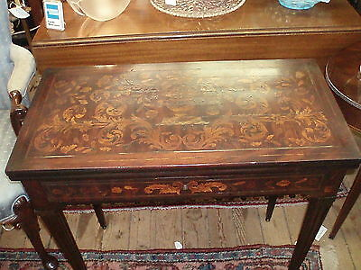 Antique Dutch Marquetry Flip-top Game Table