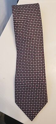 $230 New BRIONI dis n Z1376 Paisley Navy Blue Red Silk Tie Handmade in Italy