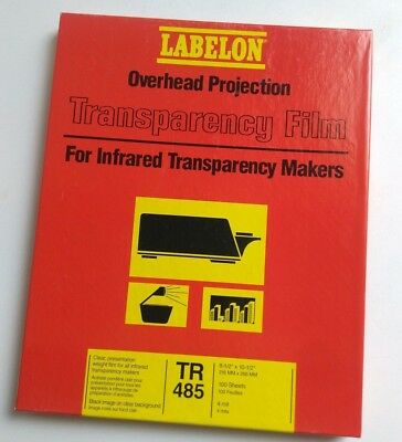 LABELON Overhead Projection Transparency Film TR485 100 sheets 4mil