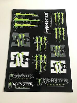 monster energy stickers Moto voiture rayures